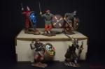 Набор оловянных солдатиков Викинги - Набор оловянных солдатиков 5 шт. Высота солдатиков 54 мм.