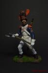 Сапёр линейной пехоты. Франция, 1805-14 - Оловянный солдатик коллекционная роспись 54 мм. Все оловянные солдатики расписываются художником вручную