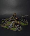 Расчет пулемета Максим - Оловянный солдатик коллекционная роспись 54 мм. Все оловянные солдатики расписываются художником вручную
