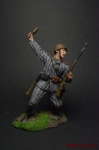 Красноармеец РККА, 1943-45 - Оловянный солдатик коллекционная роспись 54 мм. Все оловянные солдатики расписываются художником вручную