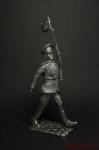 Парад победы. Преображенец  (голова вправо) - Оловянный солдатик. Чернение. Высота солдатика 54 мм