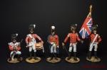 Набор оловянных солдатиков Анличане 1812 - Набор оловянных солдатиков 5 шт. Высота солдатиков 54 мм.