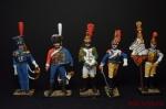 Набор оловянных солдатиков Наполеоновские войны - Набор оловянных солдатиков 5 шт. Высота солдатиков 54 мм.