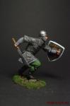Западноевропейский пехотинец, 12 век - Оловянный солдатик коллекционная роспись 54 мм. Все оловянные солдатики расписываются художником вручную