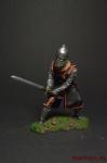 Рыцарь-тамплиер, 12 век - Оловянный солдатик коллекционная роспись 54 мм. Все оловянные солдатики расписываются художником вручную