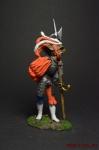 Ландскнехт с алебардой, 16 век - Оловянный солдатик коллекционная роспись 54 мм. Все оловянные солдатики расписываются художником вручную
