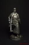 Немецкий солдат с Panzerschreck - Не крашенный оловянный солдатик. Высота 54 мм.