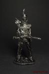 Индеец с ружьем - Оловянный солдатик. Чернение. Высота солдатика 54 мм