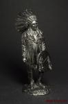Вождь индейцев - Оловянный солдатик. Чернение. Высота солдатика 54 мм