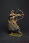 Скифская лучница, V-IV вв. до н. э. - Оловянный солдатик коллекционная роспись 54 мм. Все оловянные солдатики расписываются художником вручную