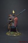 Русский тяжелый копейщик, 14 век - Оловянный солдатик коллекционная роспись 54 мм. Все оловянные солдатики расписываются художником вручную
