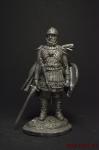 Конный воин новгородского тысячного полка.14 век - Оловянный солдатик. Чернение. Высота солдатика 54 мм