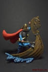Викинг на драккаре, 750 г. - Оловянный солдатик коллекционная роспись 54 мм. Все оловянные солдатики расписываются художником вручную