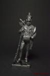 Испанский стрелок батальона альмогаваров 1810 год - Не крашенный оловянный солдатик. Высота 54 мм