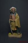 Вождь индейцев, XIX в. - Оловянный солдатик коллекционная роспись 54 мм. Все оловянные солдатики расписываются художником вручную