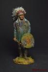 Вождь индейцев - Оловянный солдатик коллекционная роспись 54 мм. Все оловянные солдатики расписываются художником вручную