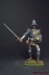 Европейская пехота, конец 15 века. Наёмный солдат - Оловянный солдатик коллекционная роспись 54 мм. Все оловянные солдатики расписываются художником вручную