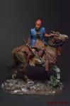 Конный самурай, Фукусима Масанори, XVI в. - Оловянный солдатик коллекционная роспись 54 мм. Все оловянные солдатики расписываются художником вручную