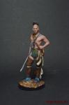 Воин племени Мохаук - Оловянный солдатик коллекционная роспись 54 мм. Все оловянные солдатики расписываются художником вручную