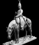 Рядовой армейских кирасирских полков Россия 1812-14 гг. - Оловянный солдатик, белый металл (набор для сборки). Размер 54 мм (1:30)