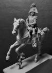Русский император Александр I, 1814 - Оловянный солдатик, белый металл (набор для сборки). Размер 54 мм (1:30)