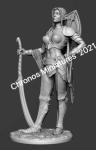 Миры Фэнтези: Эльфийская воительница смола - Фигурка, смола (набор для сборки). Размер 54 мм (1:30)