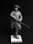 Шведский кавалерийский офицер, 1710-е годы - Оловянный солдатик, белый металл (набор для сборки). Размер 54 мм (1:30)