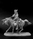 Квартермистр Смоленского драгунского полка, Россия 1790-96 - Оловянный солдатик, белый металл (набор для сборки). Размер 54 мм (1:30)