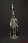 Сержант пехотных полков, Великоритания 1808-15 - Не крашенный оловянный солдатик. Высота 54 мм