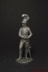 Рядовой тяжелой кавалерии, Великобритания 1810-15 - Не крашенный оловянный солдатик. Высота 54 мм