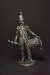 Барабанщик 27 пехотного полка, 1809-15 - Не крашенный оловянный солдатик. Высота 54 мм