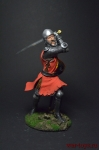 Английский Рыцарь Сэр Оливер Ингхэм 1340 90мм - Оловянный солдатик коллекционная роспись 90 мм. Все оловянные солдатики расписываются художником вручную