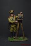 Первая мировая война. Полковой фотограф РИА - Оловянный солдатик коллекционная роспись 54 мм. Все оловянные солдатики расписываются художником вручную