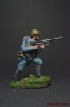 Французский солдат с пулеметом Шоша. 1915 - Оловянный солдатик коллекционная роспись 54 мм. Все оловянные солдатики расписываются художником вручную