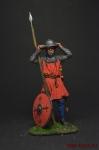 Европейский пехотинец, 14 век - Оловянный солдатик коллекционная роспись 54 мм. Все оловянные солдатики расписываются художником вручную