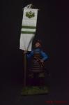 Японский воин-знаменосец, 14 век - Оловянный солдатик коллекционная роспись 54 мм. Все оловянные солдатики расписываются художником вручную