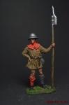 Швейцарский пехотинец, 14 век - Оловянный солдатик коллекционная роспись 54 мм. Все оловянные солдатики расписываются художником вручную