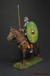 Всадник вспомогательной конницы. Рим, 1 век н.э. - Оловянный солдатик коллекционная роспись 54 мм. Все оловянные солдатики расписываются художником вручную