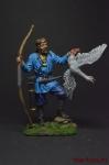 Викинг-лучник с гусем, 9-10 век - Оловянный солдатик коллекционная роспись 54 мм. Все оловянные солдатики расписываются художником вручную