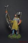 Мато-топе, вождь манданов - Оловянный солдатик коллекционная роспись 54 мм. Все оловянные солдатики расписываются художником вручную