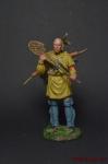 Индеец с ракеткой - Оловянный солдатик коллекционная роспись 54 мм. Все оловянные солдатики расписываются художником вручную