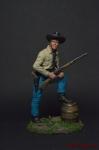 Молодой Техасский рейнджер, 1883 - Оловянный солдатик коллекционная роспись 54 мм. Все оловянные солдатики расписываются художником вручную