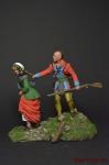 Пленница - Оловянный солдатик коллекционная роспись 54 мм. Все оловянные солдатики расписываются художником вручную
