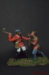 Рейнджер Роджерса и воин племени Абенаки, 1759 - Оловянный солдатик коллекционная роспись 54 мм. Все оловянные солдатики расписываются художником вручную