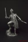 Лейтенант старой гвардии Наполеона 1812 - Не крашенный оловянный солдатик. Высота 54 мм