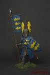 Германский рыцарь, 12-13 вв. - Оловянный солдатик коллекционная роспись 54 мм. Все оловянные солдатики расписываются художником вручную