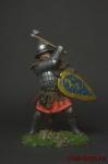 Русский воин, 14 век - Оловянный солдатик коллекционная роспись 54 мм. Все оловянные солдатики расписываются художником вручную