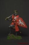 Рыцарь-крестоносец, 12 век. - Оловянный солдатик коллекционная роспись 54 мм. Все оловянные солдатики расписываются художником вручную