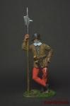Швейцарский алебардщик, 15 век - Оловянный солдатик коллекционная роспись 54 мм. Все оловянные солдатики расписываются художником вручную