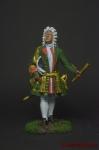 Генерал-адмирал Франц Лефорт. 1696 год, Россия - Оловянный солдатик коллекционная роспись 54 мм. Все оловянные солдатики расписываются художником вручную